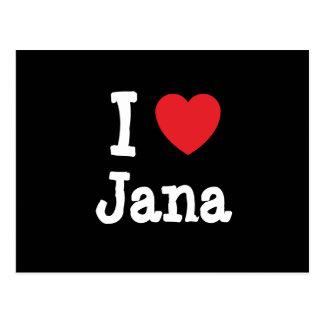 Amo la camiseta del corazón de Jana Postales
