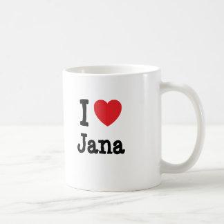 Amo la camiseta del corazón de Jana Taza De Café