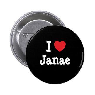 Amo la camiseta del corazón de Janae Pin
