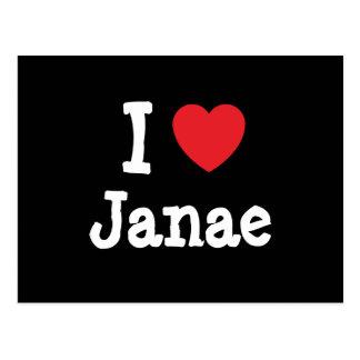 Amo la camiseta del corazón de Janae Postales