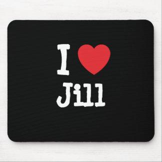 Amo la camiseta del corazón de Jill Alfombrillas De Ratones