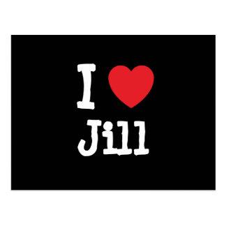 Amo la camiseta del corazón de Jill Postal