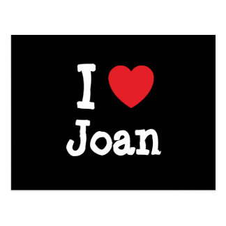 Amo la camiseta del corazón de Joan Tarjetas Postales