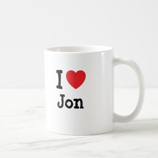 Amo la camiseta del corazón de Jon Taza