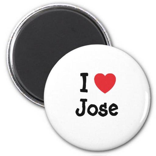 Amo la camiseta del corazón de Jose Imán Redondo 5 Cm