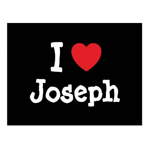 Amo la camiseta del corazón de José Postal