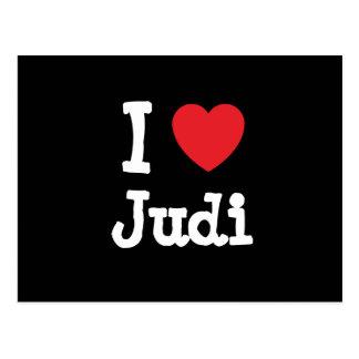 Amo la camiseta del corazón de Judi Postales