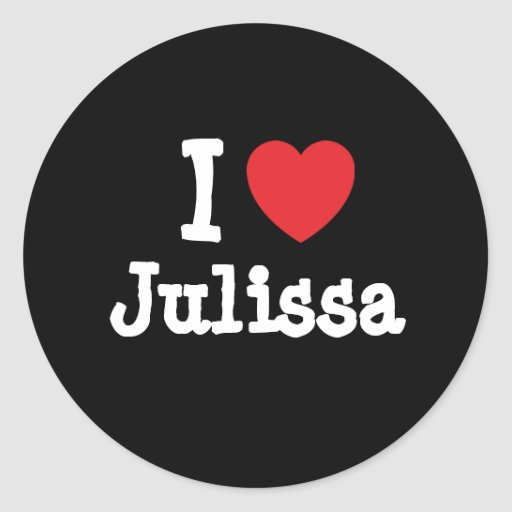 Amo la camiseta del corazón de Julissa Etiqueta Redonda