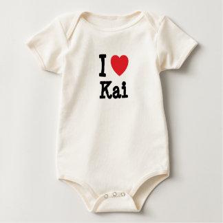 Amo la camiseta del corazón de Kai Mamelucos De Bebé