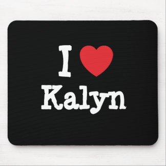 Amo la camiseta del corazón de Kalyn Tapete De Raton