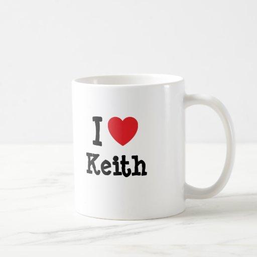 Amo la camiseta del corazón de Keith Tazas