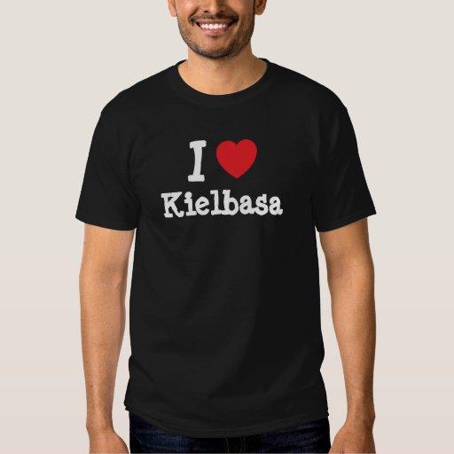 Amo la camiseta del corazón de Kielbasa Playera