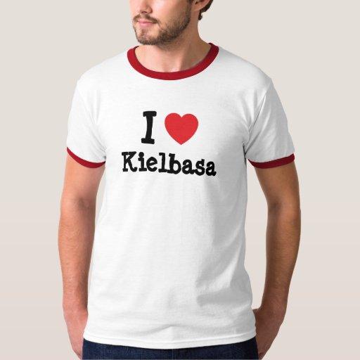 Amo la camiseta del corazón de Kielbasa Polera