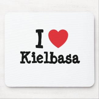 Amo la camiseta del corazón de Kielbasa Alfombrilla De Raton