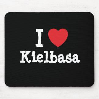 Amo la camiseta del corazón de Kielbasa Alfombrilla De Ratones