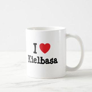 Amo la camiseta del corazón de Kielbasa Taza De Café