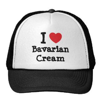 Amo la camiseta del corazón de la crema bávara gorras
