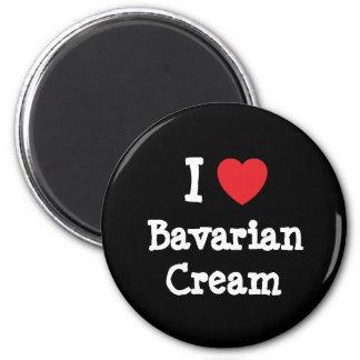 Amo la camiseta del corazón de la crema bávara imán de frigorífico