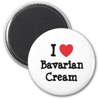 Amo la camiseta del corazón de la crema bávara imanes