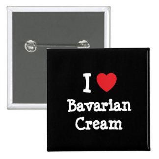 Amo la camiseta del corazón de la crema bávara pins