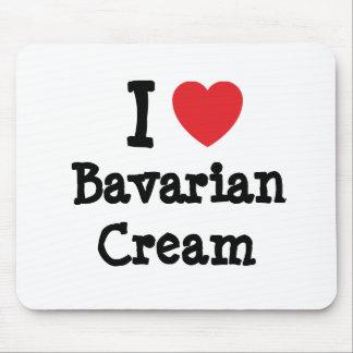 Amo la camiseta del corazón de la crema bávara alfombrilla de ratones