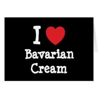 Amo la camiseta del corazón de la crema bávara felicitacion