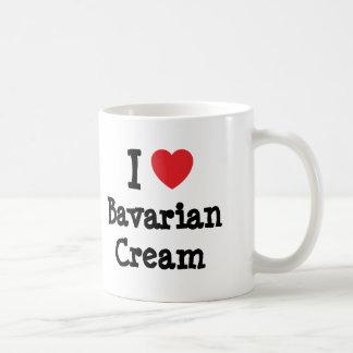 Amo la camiseta del corazón de la crema bávara tazas