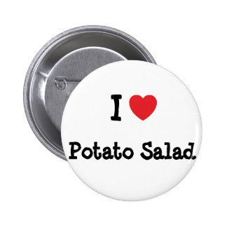 Amo la camiseta del corazón de la ensalada de pata pins