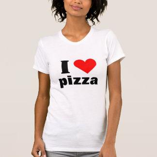 Amo la camiseta del corazón de la pizza playeras