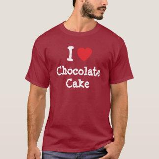 Amo la camiseta del corazón de la torta de