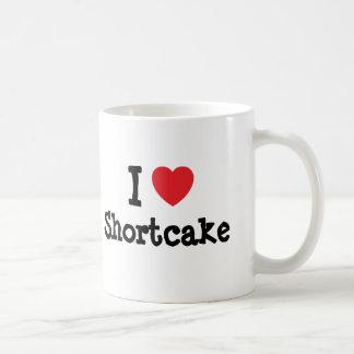 Amo la camiseta del corazón de la torta de frutas taza de café