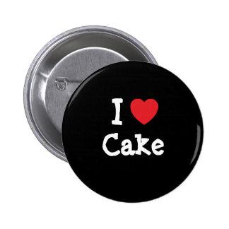Amo la camiseta del corazón de la torta pin