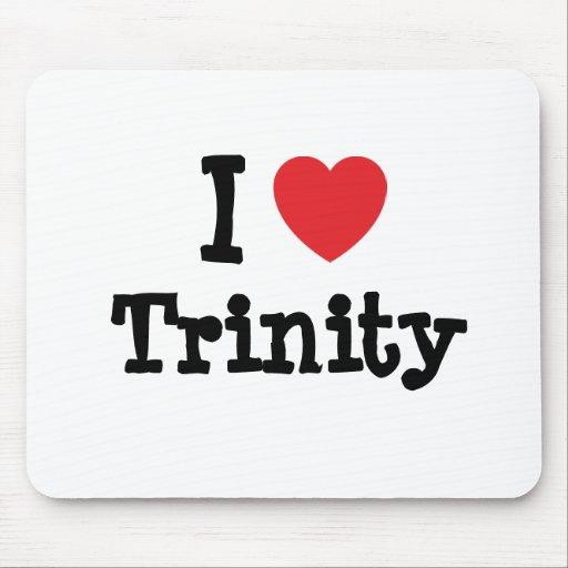 Amo la camiseta del corazón de la trinidad tapete de ratón