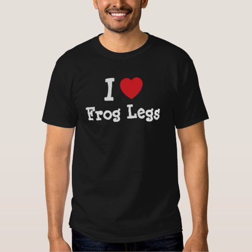 Amo la camiseta del corazón de las ancas de rana remeras