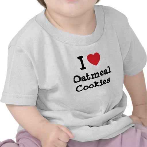 Amo la camiseta del corazón de las galletas de