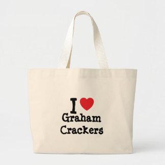 Amo la camiseta del corazón de las galletas de Gra Bolsa