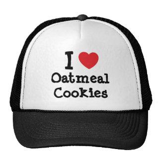 Amo la camiseta del corazón de las galletas de har gorros