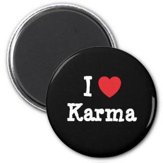 Amo la camiseta del corazón de las karmas imán de nevera