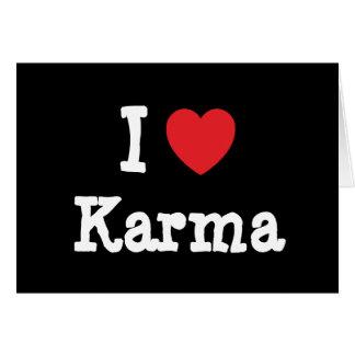 Amo la camiseta del corazón de las karmas felicitación