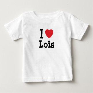 Amo la camiseta del corazón de Lois Playeras