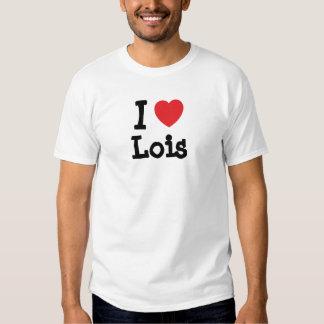 Amo la camiseta del corazón de Lois Poleras