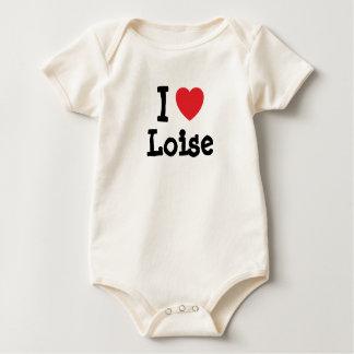 Amo la camiseta del corazón de Loise Enteritos