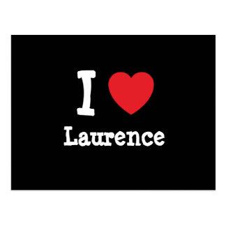 Amo la camiseta del corazón de Lorenza Postales