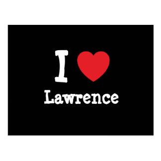 Amo la camiseta del corazón de Lorenzo Postales