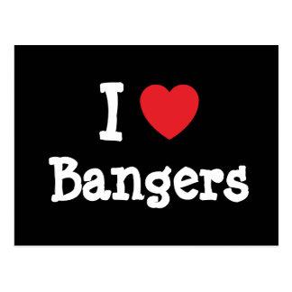 Amo la camiseta del corazón de los Bangers Postal