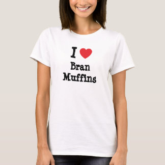 Amo la camiseta del corazón de los molletes de