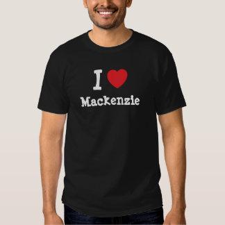 Amo la camiseta del corazón de Mackenzie Playera
