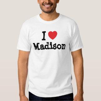 Amo la camiseta del corazón de Madison Playeras
