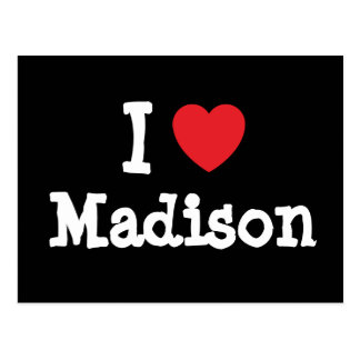 Amo la camiseta del corazón de Madison Tarjeta Postal