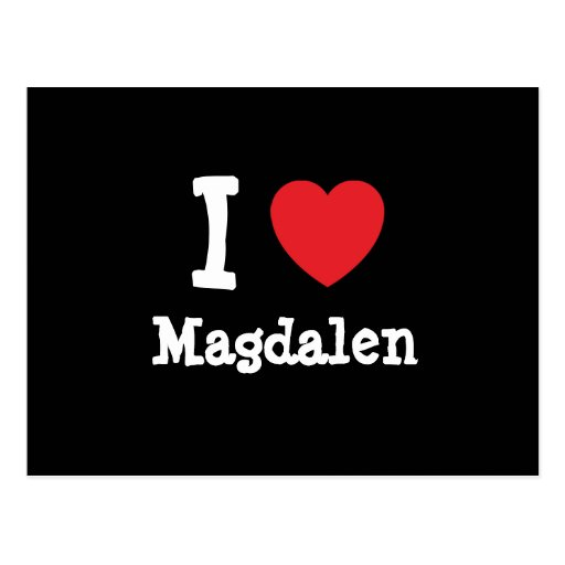 Amo la camiseta del corazón de Magdalen Postal